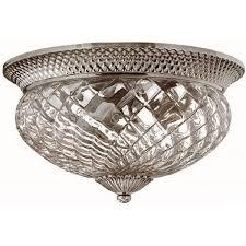 plantation flush ceiling light traditional antique nickel large