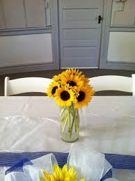 Creative Idea:Lovely Yellow Sunflowers Wedding Table In Wine Bottles  Centerpieces Diy Sunflowers Centerpiece On