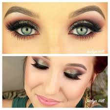 by jaclyn hill smokey eye makeup with hint of color antique gold blended into warm