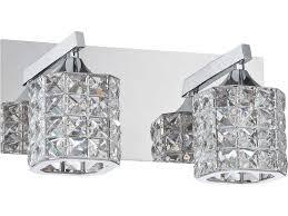 Shimera Lighting Kendal Lighting Shimera Chrome With Optic Crystal Jewels Two Light Vanity Light