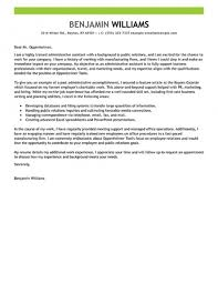 Administrative Assistant Cover Letter Example Cover Letter For In