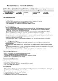 Customer Service Job Description Retail Job Description Nokia Field Force