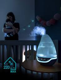 Babymoov Hygro And Humidifier With Night Lights Hygro Plus Cool Mist Humidifier 3 In 1 Humidity Control Multicolored Night Light Essential Oil Diffuser Easy Use And Care No Filter Needed