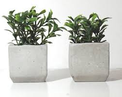 artificial plants for office decor. set of two artificial plants with concrete planter home decor office desk for a