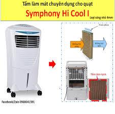 Tấm làm mát Cooling Pad cho quạt hơi nước Symphony Hi Cool I (Loại tấm sóng  nhỏ 4mm)