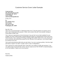 Good Cover Letter Example For Fabulous Customer Service Letters