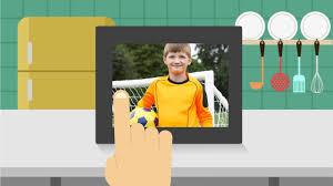 aluratek 8 inch wifi digital photo frame with touchscreen ips lcd display spotlight
