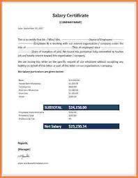 Format For Certificate Of Employment Salary Certificate Rome Fontanacountryinn Com