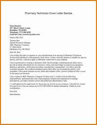 Pharmacy Cover Letter Examples Pharmacy Technician Cover Letter Sample Samples Resume