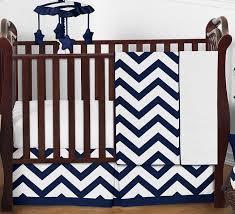 navy and white chevron zigzag baby bedding 4pc crib set by sweet jojo designs only 139 99