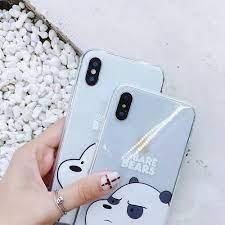 เคสไอโฟน วีแบร์แบร์ หมีวีแบร์แบร์ มีกระเป๋า Case For Iphone We Bare Bears 6  6s 6+ 6s+ 7 7+ 8 8+ X Xs XR XsMax #six-seven FC