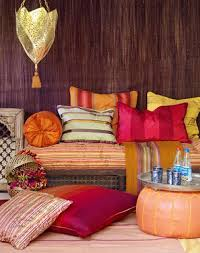Moroccan Living Room Furniture Moroccan Living Room Style With Sunburst Mirror And