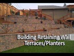 building terraced retaining walls or in wall planters