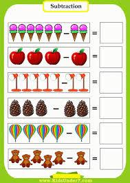 Kindergarten Worksheet Subtraction Worksheets Kindergarten For ...