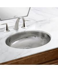 oval undermount bathroom sinks. Delighful Undermount Hand Hammered Stainless Steel Oval Undermount Bathroom Sink With Overflow And Sinks U