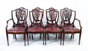 hepplewhite shield dining chairs set: antique set  english hepplewhite dining chairs c