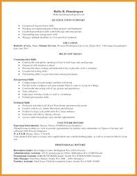 Interpersonal Skills Resume