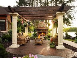 outside fireplaces with pergola plans and pergola kits