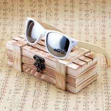 bobo bird womens mens white frame wooden sunglasses