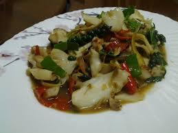 ผัดขี้เมาหอยโข่งทะเล : Fish Recipe/Cooking