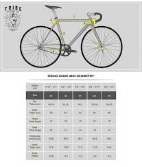 Fixed Gear Bike Frame Size Chart 59 Experienced Bicycle Frame Sizing Chart