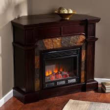sei cartwright corner fireplace tv stand in espresso