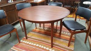 danish modern round teak dining table with 2 large extensions by arne vodder for sibast