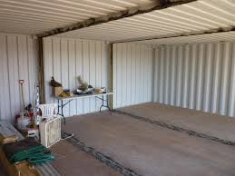 Cutting The First Internal Wall Of The Shipping Container House - Container house interior