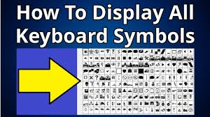 Symbols On Keyboard How To Display All Keyboard Symbols