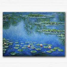 Small Picture Aliexpresscom Buy Hand painted Canvas oil paintings lotus