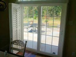 shutters for sliding glass doors with built in blinds