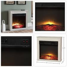 details about compact electric fireplace 23 in built in insert thermal shut off rocker switch