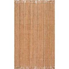 chunky loop jute beige 6 ft x 9 ft area rug