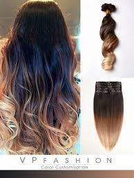 three colors ombre clip in hair extensions m1b27s27h30