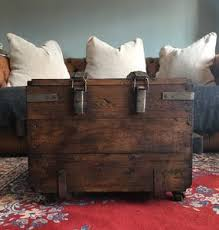 unique wood furniture designs. Upcycled Vintage Trunk Coffee Table On Wheels - Tables Unique Wood Furniture Designs O