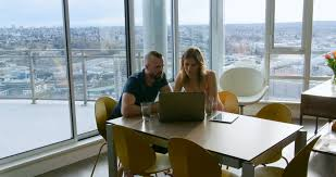 sunny day home office. Couple Using Laptop In Living Room At Home 4k - 4K Stock Video Clip Sunny Day Office L