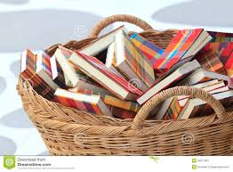 Image result for image basket of books