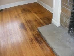 remove black mold hardwood floors