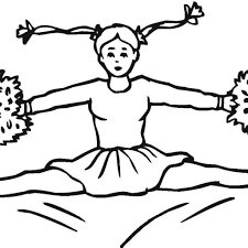 Cheerleader Coloring Sheet With Great Cheerleader Coloring Page Free