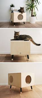 modern pet furniture. This Modern Cat Bed / Table Named Nest, Is Made From High-end Plywood, And As The Design Of Minimal, It Can Also Double A Side In Any Pet Furniture O
