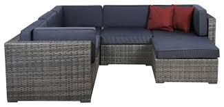 piece outdoor patio furniture set grey