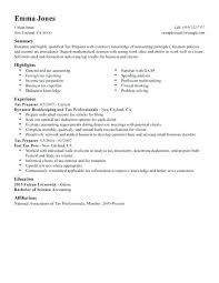 Accountant Resume Samples Tax Accounting Finance Example Standard