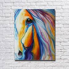 with framed half face horse designed large horse paintings art abstract animal oil painting on canvas