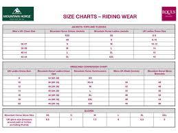 Mountain Horse Jacket Size Chart Mountain Horse Cora Tech Top Equus