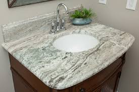 Fantasy Brown Leathered Marble With 2cm Ogee Edge On Vanity Top And Backsplash