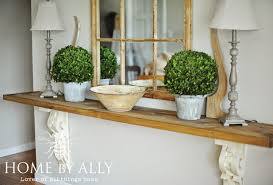 entry foyer table. Home By Ally: DIY Entryway Table Using Corbels/architectural Salvage Entry Foyer