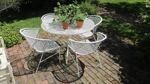 white iron patio furniture. Wonderful Patio Authentic Salterini Vintage Iron Patio Table And Chairs And White Furniture I