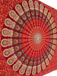 color mandala tapestry wall hanging