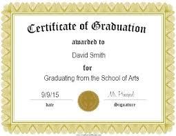Certificate Of Graduation Sample Template In Graduation