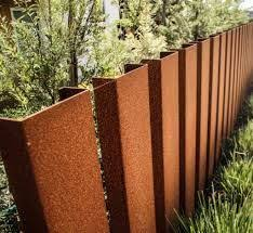 decorative metal fence post. Delighful Metal Image Result For Corten Steel Fence Posts With Decorative Metal Fence Post